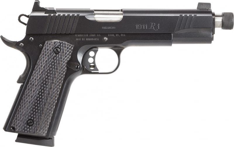 "Remington Firearms 96339 1911 R1 Enhanced Single 45 ACP 5.5"" TB 8+1 Laminate Black Grip Black"