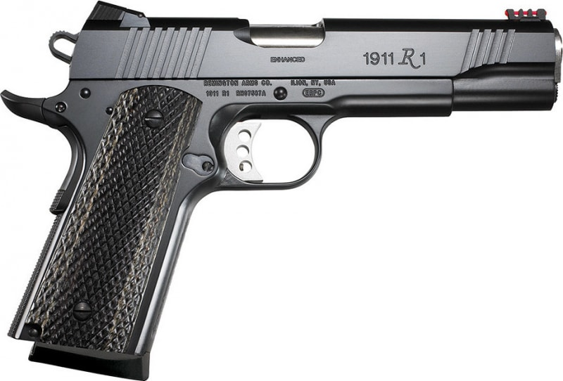 "Remington Firearms 96364 1911 R1 Enhanced Single 9mm Luger 5"" 9+1 Laminate Black Grip Black"