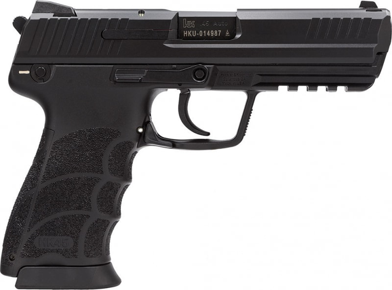 "HK 745007A5 HK45 DAO 45 ACP LEM No Manual Safety 10+1 4.53"" Poly Grip/Frame Black"