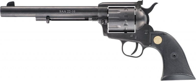 """Chiappa CF340.170 1873 Single Action Army 22-10 22LR 7.5"""" 10rd Black Synthetic Black"""