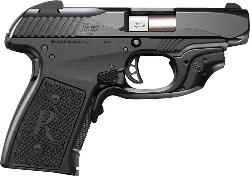 "Remington Firearms 96432 R51 Single 9mm Luger +P 3.4"" 7+1 Black Polymer/Crimson Trace Laser Grip Black Stainless Steel"
