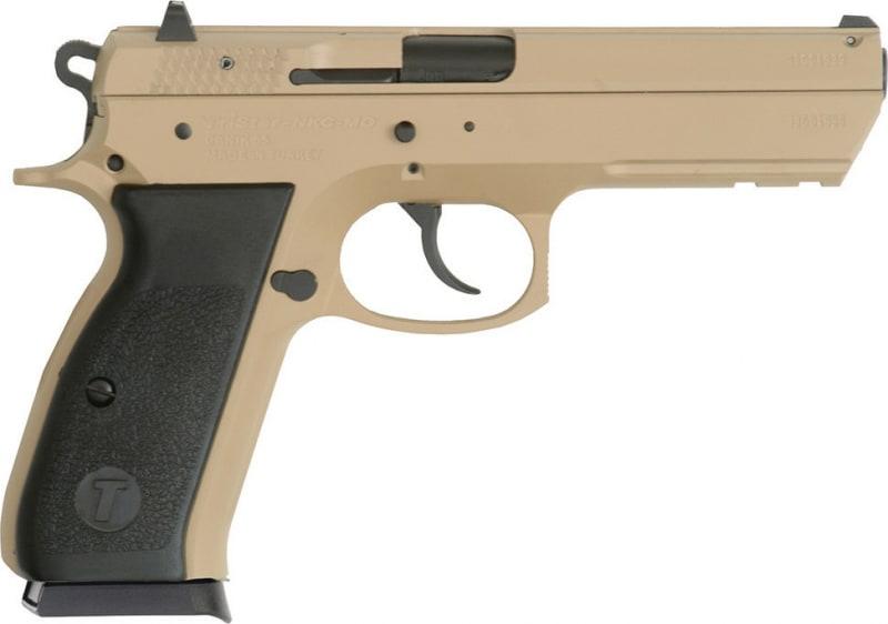 "TriStar 85096 T-120 Aluminum DA/SA 9mm Luger 4.7"" 17+1 Black Polymer Grip Desert Tan Cerakote"