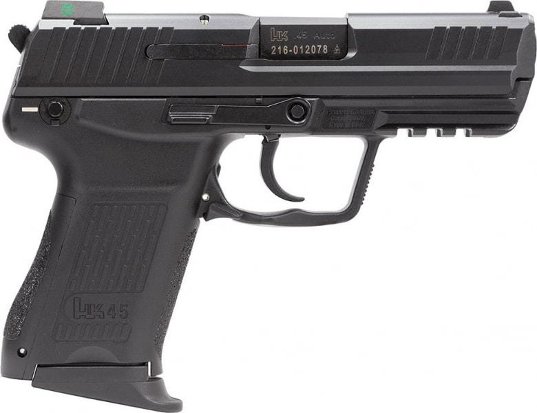 "HK 745031LEA5 HK45C Compact V1 3Mags DA/SA 45 ACP 3.9"" 8+1 Synthetic Grip Black"
