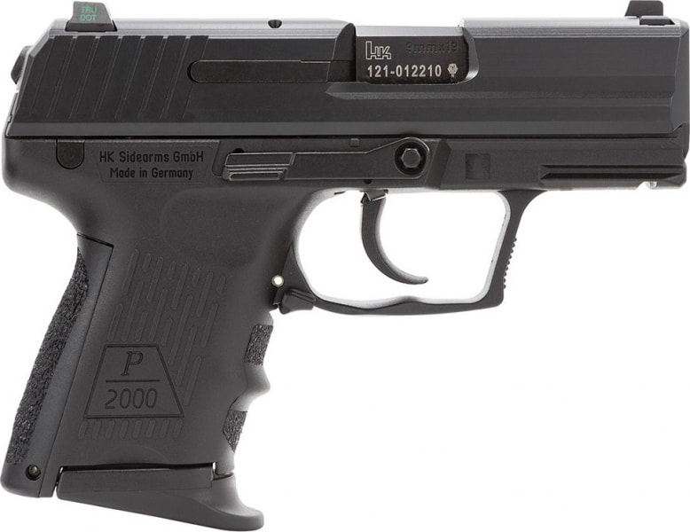 "HK 709202LEA5 P2000 V2 LEM 3Mags DAO 9mm 3.7"" 13+1 Modular Synthetic Grip"