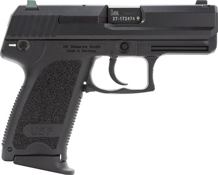 "HK 709031LEA5 USP9C Compact V1 3Mags DA/SA 9mm 3.6"" 13+1 Polymer Grip Black"