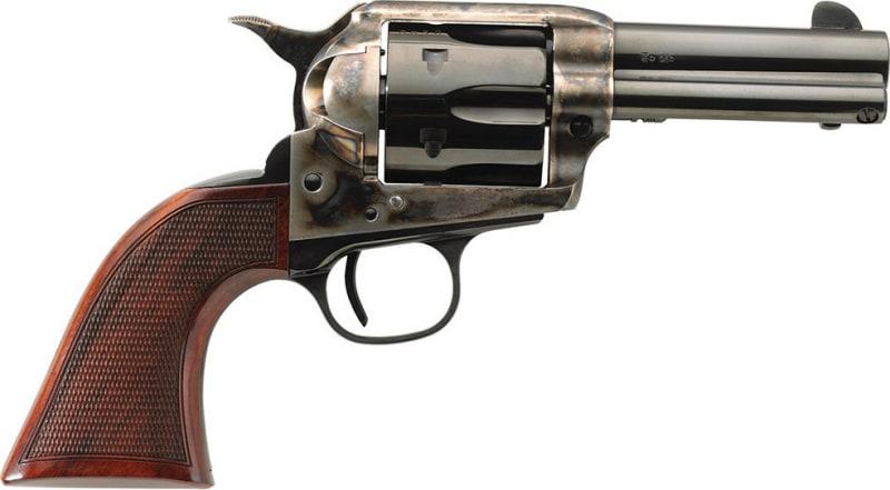 "Taylors 4201DE 1873 Runnin Iron Deluxe 45 LC 3.5"" 6rd Walnut CH Frame Blued"
