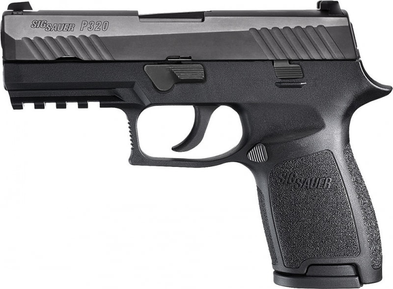 "Sig Sauer 320C9BSS P320 Compact DAO Striker 9mm 3.9"" 15+1 NS Poly Grip/Frm Black"