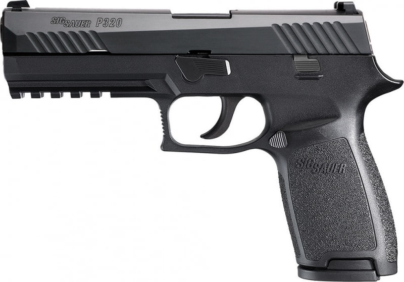 "Sig Sauer 320F9BSS P320 Full Size Double 9mm Luger 4.7"" 17+1 NS Black Polymer Grip/Frame Grip Black Nitron Stainless Steel"