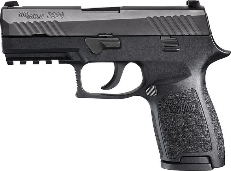 "Sig Sauer 320C9B P320 Compact DAO Striker 9mm 3.9"" 15+1 CS Poly Grip/Frame Black"