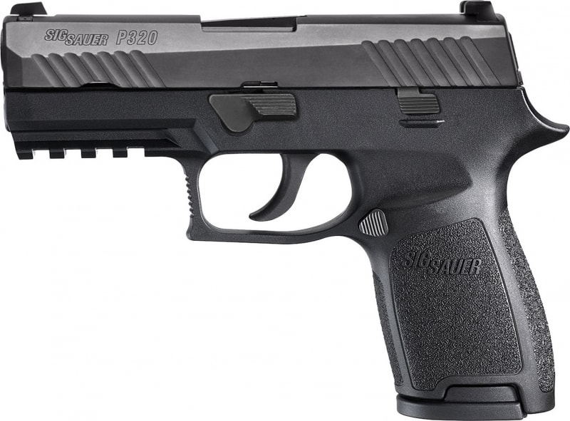 "Sig Sauer 320F9B P320 Full Size Double 9mm Luger 4.7"" 17+1 CS Black Polymer Grip/Frame Grip Black Nitron Stainless Steel"