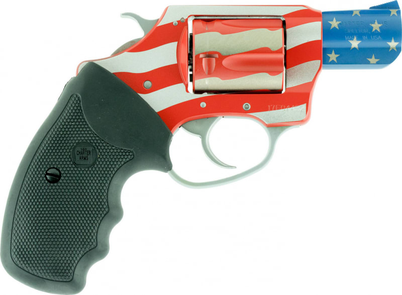 """Charter Arms 23872 The Old Glory Undercover Singl/Double Actione 38 Special 2"""" 5 Black Rubber American Flag"""