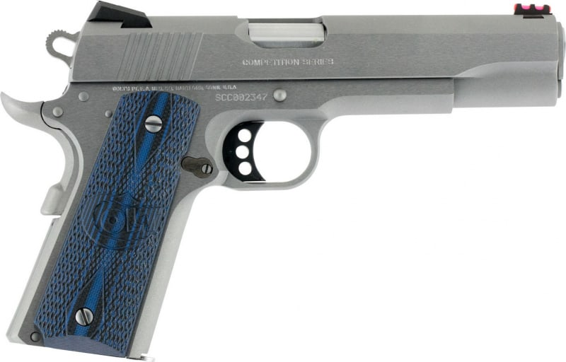 "Colt O1070CCS 1911 Competition 70 Series Single 45 ACP 5"" 8+1 Blue G10 w/Logo Grip Stainless Steel"