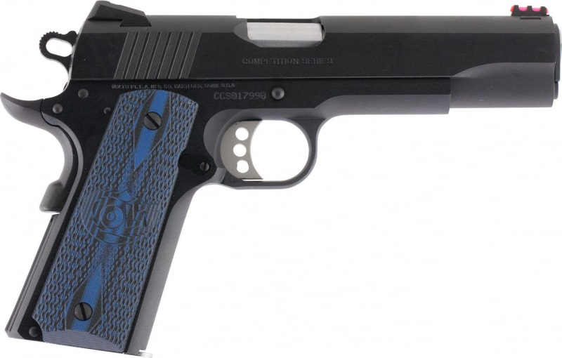 "Colt O1970CCS 1911 Competition 70 Series Single 45 ACP 5"" 8+1 Blue G10 w/Logo Grip Blued Carbon Steel"