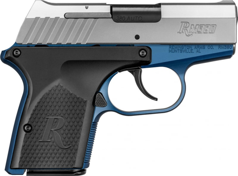 """Remington Firearms 96244 RM380 Micro Double 380 ACP 2.9"""" 6+1 Black Polymer Grip Stainless Steel"""