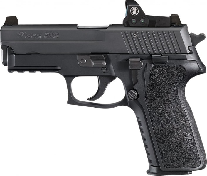 "Sig Sauer E29R9BSSRX P229 RX DA/SA 9mm 3.9"" 15+1 Black 1-Piece Ergo Grip Black Nitron Stainless Steel"