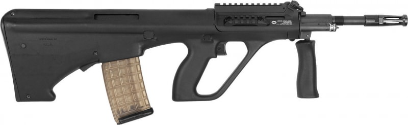 "Steyr AUGM1BLKS AUG A3 M1 Semi-Auto .223/5.56 NATO 16"" 30+1 Short Rail Synthetic Black Stk"