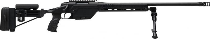 "Steyr 60.593.3K SSG 08 Bolt 338 Lapua Magnum 27.2"" HB 6+1 Folding Adjustable Black"
