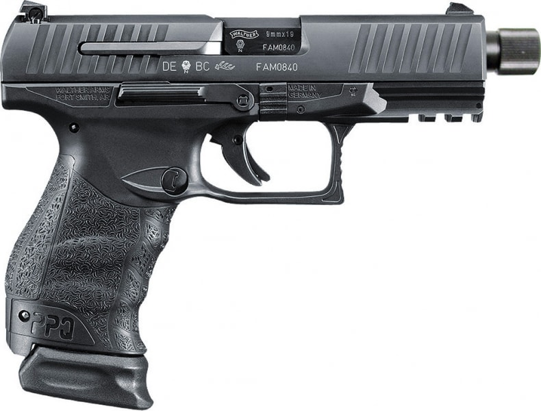 "Walther Arms 2796082 PPQ M2 Navy Double 9mm Luger 4.6"" 15+1 Black Polymer Grip/Frame Grip Black Tenifer"