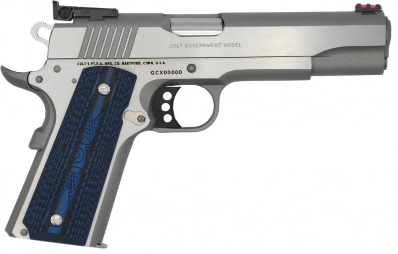 Colt Defense O5073GCLTT Gold CUP Lite .38 Super TWO-TONE Red Fiber Optic G10
