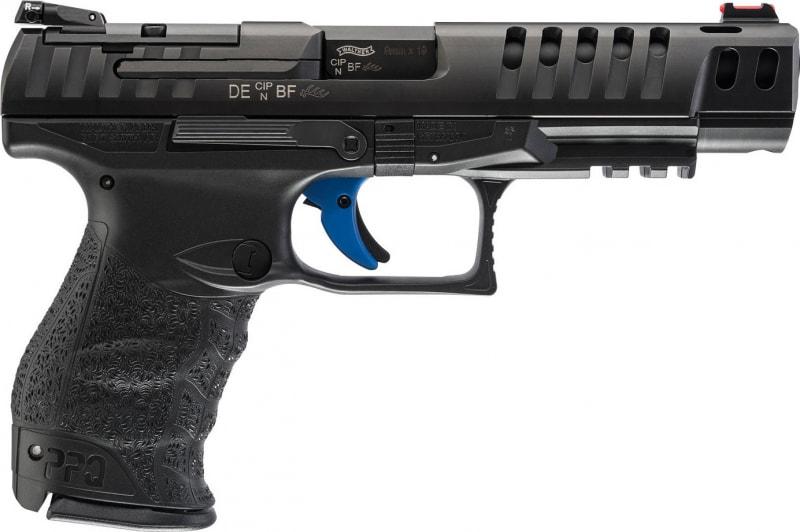 "Walther Arms 2813335 Q5 Match DAO 9mm 5"" 15+1 Black Polymer Grip/Frame Grip Black"