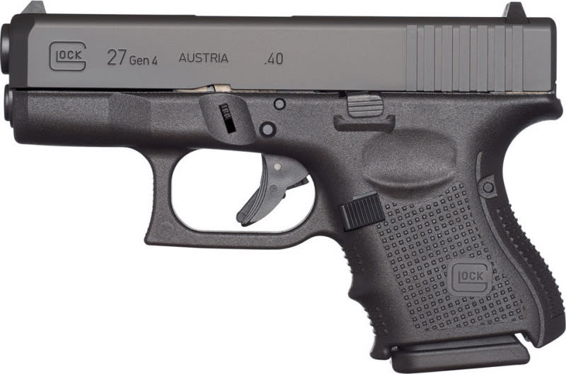 "Glock UG2750201 G27 Gen 4 Subcompact Double 40 S&W 3.42"" 9+1 Black Interchangeable Backstrap Grip Black"