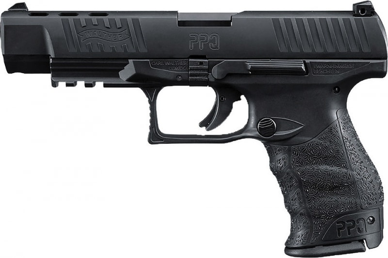 "Walther Arms 2796104 PPQ M2 Double 40 S&W 5"" 11+1 Black Polymer Grip/Frame Grip Black Tenifer"