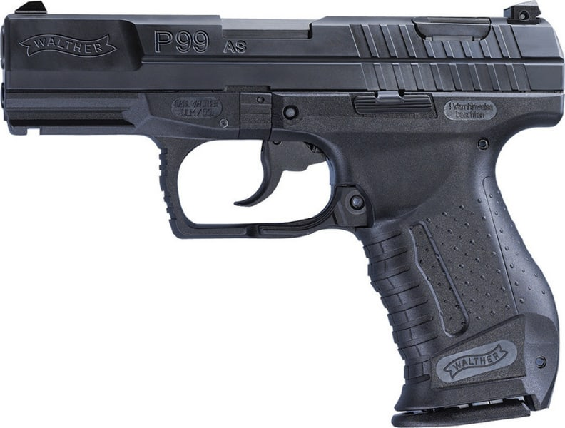 """Walther Arms 2796325 P99 Anti-Stress Mode 9mm 15rd 4"""" Poly Grips Black"""