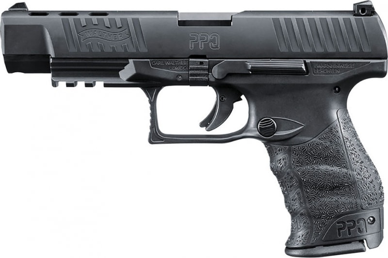 "Walther Arms 2796105 PPQ M2 Double 40 S&W 5"" 10+1 Black Poly Grip/Frame Black"