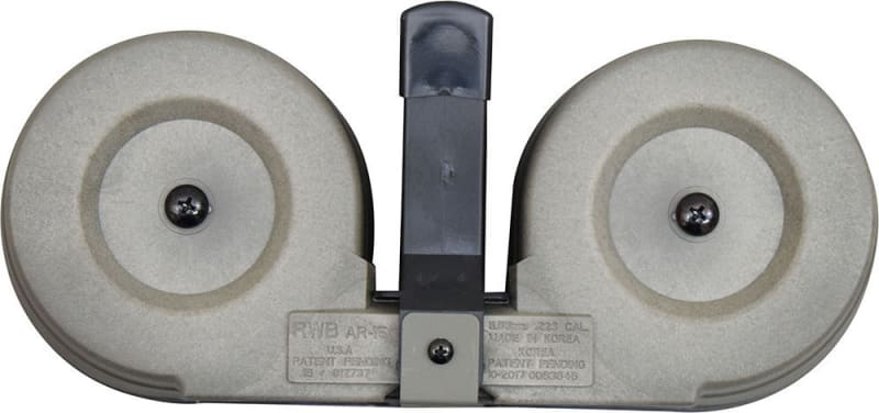 Gen II AR-15 / M16 100 Round Dual Drum Magazine .223/5.56 With Reinforced Feed Lips in OD Green