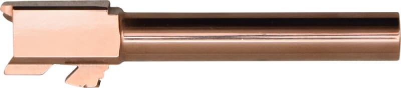 """Glock 17 Titanium Nitride (Rose Gold) Replacement Barrel - 4.50"""" - 9x19 NATO"""