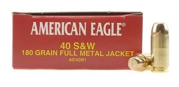 American Eagle 40 S&W 180 GR FMJ AE40R1 - 1000rd Case