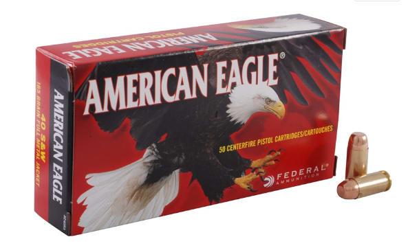 American Eagle 40 S&W 165 GR FMJ Ammo AE40R3 - 50rd Box
