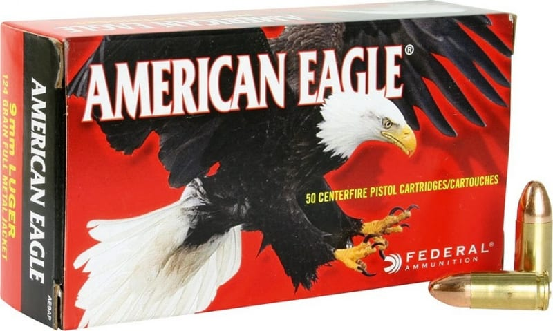 Federal Champion Series 9mm 124 GR FMJ Ammo AE9AP - 50rd Box