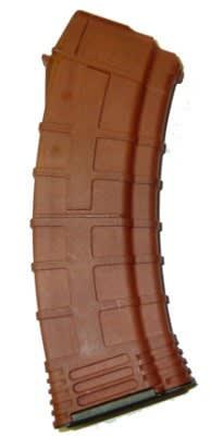 Tapco AK-74 30rd Magazine, Burned Orange Polymer 5.45x39 F620281 16652 Orange