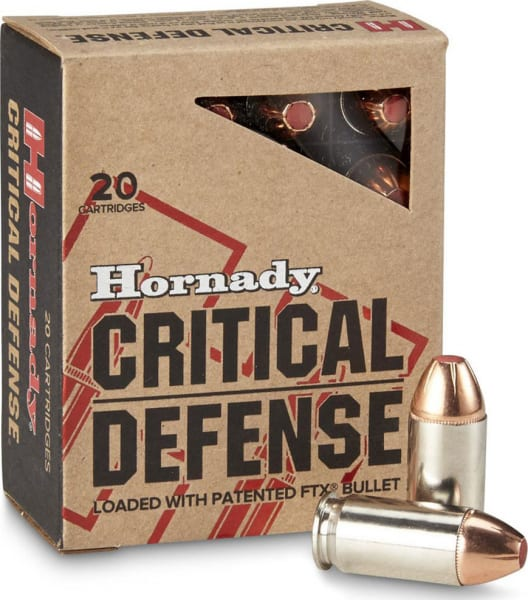 Hornady 90900 Critical Defense 45 ACP 185 GR Flex Tip Expanding - 20 Rounds Per Box