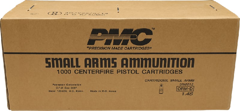 PMC Bronze .45 ACP Jacketed Hollow Point Personal Defense Ammunition. 1000 Rd Case - .45 Auto Caliber, 185 Grain Jacketed Hollow Point. 1000 Rounds