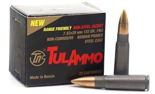 Tulammo UL076215 Range Safe 7.62X39 122gr FMJ Non-corrosive -20 Round box