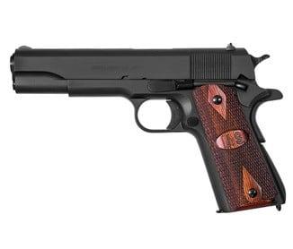 "Auto Ordnance 1911A1 45 ACP Pistol, 5"" GI Specs Black with Wood Grips - 1911BKOW"