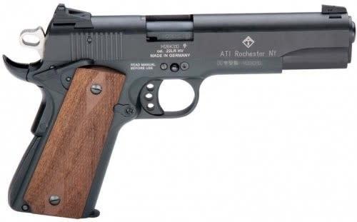 "American Tactical Imports GSG 1911 22LR Pistol, 5"" 10rd Black Wood - GERG2210M1911CA"