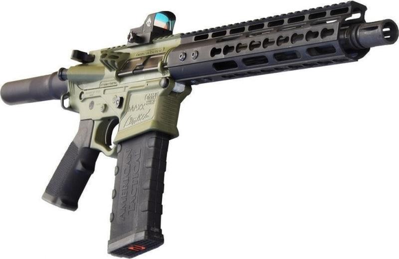 """ATI Tactical Omni Maxx Hybrid Black/Forest Green LTD AR15 Pistol, 5.56 Caliber, 10.5"""" BBL, 10"""" Keymod Rail , w/ Free Red Dot Sight."""