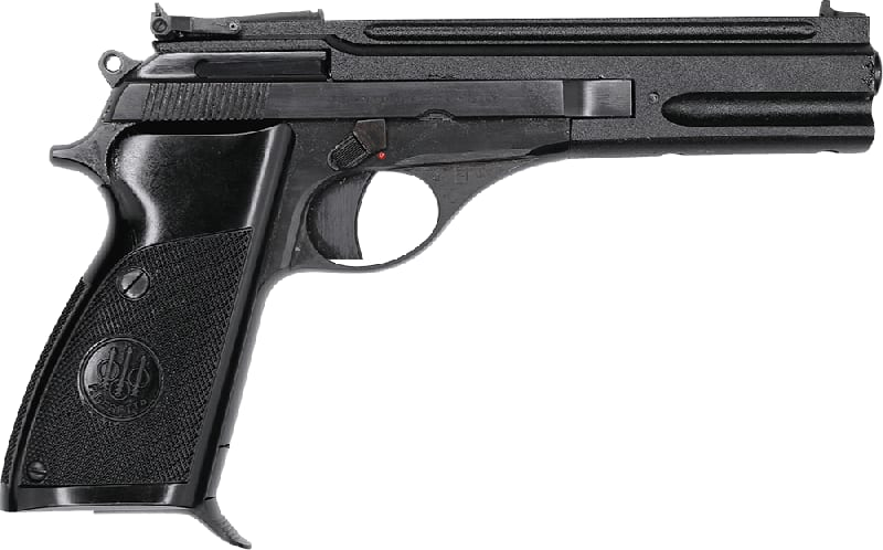 "Beretta Model 76 Semi-Automatic Target Pistol, 5.75"" Barrel, .22 LR 10rd - Single Action - Black Synthetic Grips - NRA Surplus Good/Very Good Condition"