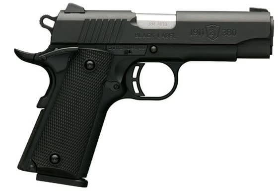 Browning 1911-380 380 ACP Pistol, Black Label Compact - Black Rain Ordnance051905492