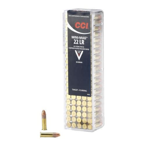 CCI 22 LR 40 GR Mini-Mag HV Ammo - 100rd Flat