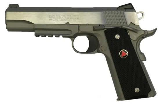 """Colt 1911 Delta Elite Rail Gun 10MM Pistol, 5"""" 8rd Brushed Stainless Steel - O2020RG"""