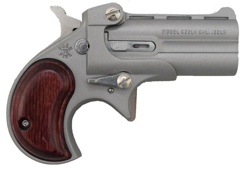 Cobra Derringer .22LR, Over / Under Satin / Rosewood Grips C22SR