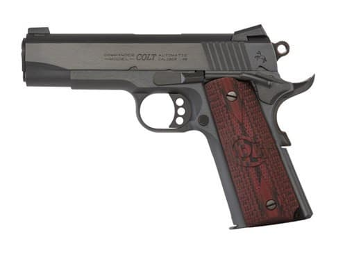 "Colt Defense 1911 Single 45 ACP Pistol, 4.25"" 8+1 Black Cherry G10 Grip Blued Carbon Steel - O4940XE"