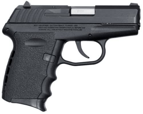 SCCY CPX-2 CB 9mm Polymer Frame Pistol, Black on Black, DAO 10+1 w/ 2 Mags