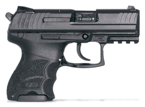 Heckler & Koch P30SK V3 9mm Pistol, Subcompact Night Sights Rear Decocking 3 10rd - HK 730903KLEA5