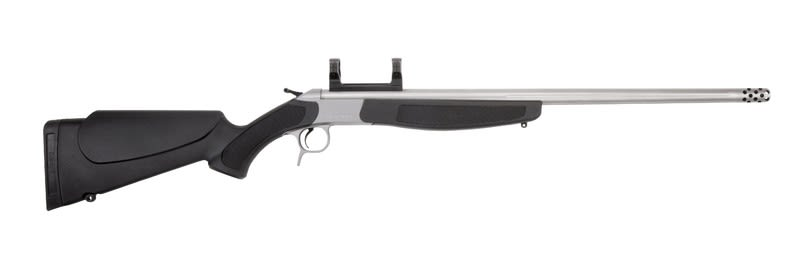 "Connecticut Valley Arms Scout V2 45-70Gov Rifle, 25"" w Brake Stainless Steel Black - CVA CR4806S"