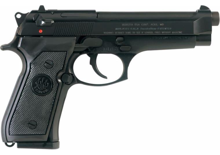 """Beretta 92FS Compact 9mm, Semi Auto Pistol 13 Rounds 4.25"""" Barrel - New - Black - MFG# JS92F850M"""